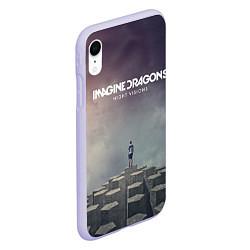 Чехол iPhone XR матовый Imagine Dragons: Night Visions цвета 3D-светло-сиреневый — фото 2