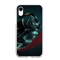 Чехол iPhone XR матовый Phantom Assassin цвета 3D-белый — фото 1