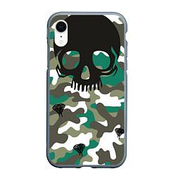 Чехол iPhone XR матовый Камуфляж цвета 3D-серый — фото 1