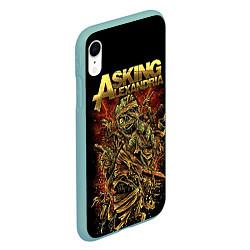 Чехол iPhone XR матовый Asking Alexandria цвета 3D-мятный — фото 2