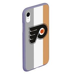 Чехол iPhone XR матовый Philadelphia Flyers цвета 3D-серый — фото 2