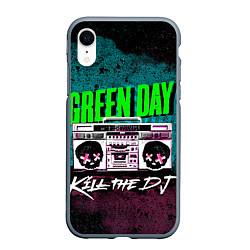 Чехол iPhone XR матовый Green Day: Kill the DJ цвета 3D-серый — фото 1