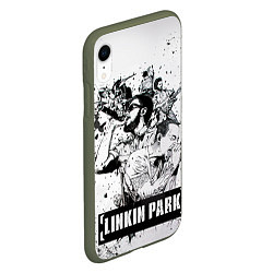Чехол iPhone XR матовый Linkin Park цвета 3D-темно-зеленый — фото 2