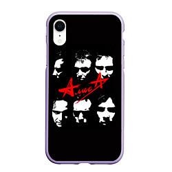 Чехол iPhone XR матовый Группа АлисА