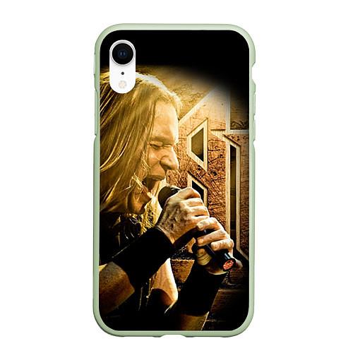 Чехол iPhone XR матовый Кипелов: Ария / 3D-Салатовый – фото 1