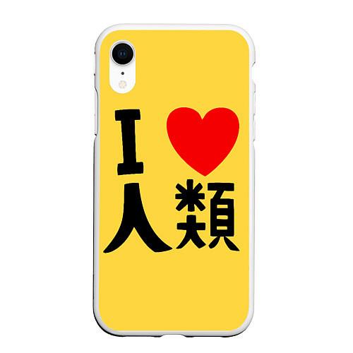 Чехол iPhone XR матовый No game no life Sora / 3D-Белый – фото 1