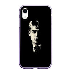 Чехол iPhone XR матовый Есенин Ч/Б цвета 3D-светло-сиреневый — фото 1