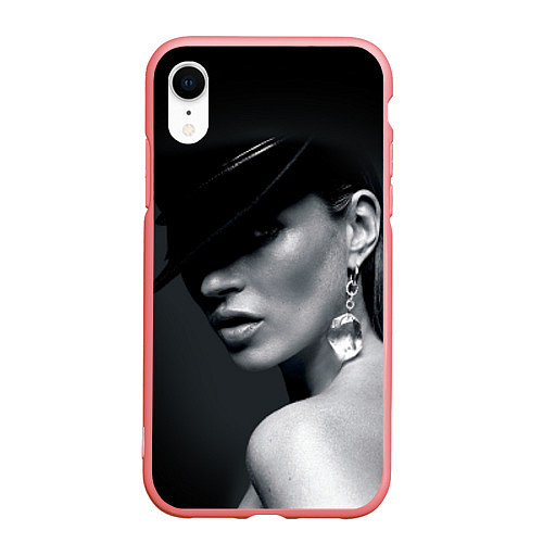 Чехол iPhone XR матовый Девушка в шляпе / 3D-Баблгам – фото 1