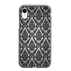 Чехол iPhone XR матовый Гламурный узор цвета 3D-серый — фото 1