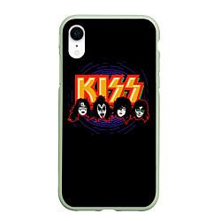 Чехол iPhone XR матовый KISS: Death Faces