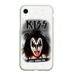 Чехол iPhone XR матовый KISS: Adult demon wig