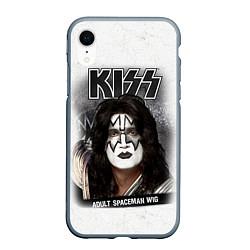 Чехол iPhone XR матовый KISS: Adult spaceman wig цвета 3D-серый — фото 1