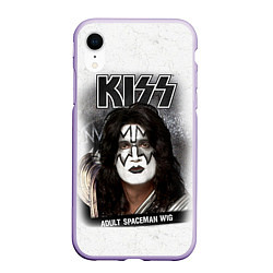 Чехол iPhone XR матовый KISS: Adult spaceman wig