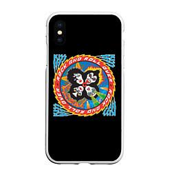 Чехол iPhone XS Max матовый KISS: Over цвета 3D-белый — фото 1