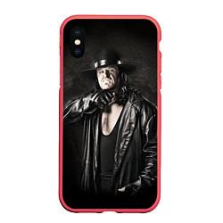 Чехол iPhone XS Max матовый Гробовщик 2 цвета 3D-красный — фото 1