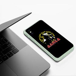 Чехол iPhone XS Max матовый АлисА: Коловрат цвета 3D-салатовый — фото 2