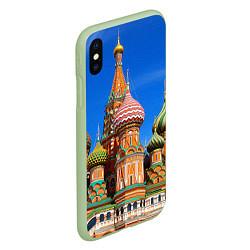 Чехол iPhone XS Max матовый Храм Василия Блаженного цвета 3D-салатовый — фото 2