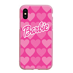 Чехол iPhone XS Max матовый Barbie цвета 3D-розовый — фото 1