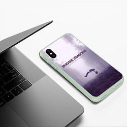 Чехол iPhone XS Max матовый Imagine Dragons: Silence цвета 3D-салатовый — фото 2