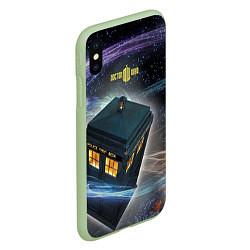 Чехол iPhone XS Max матовый Police Box цвета 3D-салатовый — фото 2