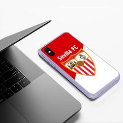 Чехол iPhone XS Max матовый Sevilla FC цвета 3D-светло-сиреневый — фото 2