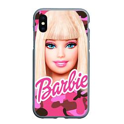 Чехол iPhone XS Max матовый Барби цвета 3D-серый — фото 1