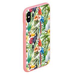 Чехол iPhone XS Max матовый Попугаи в тропиках цвета 3D-баблгам — фото 2