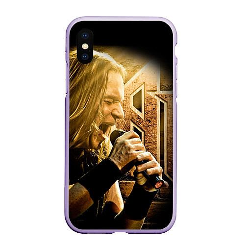 Чехол iPhone XS Max матовый Кипелов: Ария / 3D-Светло-сиреневый – фото 1
