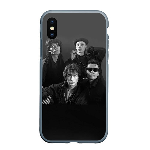 Чехол iPhone XS Max матовый Группа Кино / 3D-Серый – фото 1
