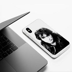 Чехол iPhone XS Max матовый Кино: Виктор Цой цвета 3D-белый — фото 2