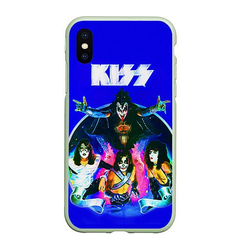 Чехол iPhone XS Max матовый Kiss Show / 3D-Салатовый – фото 1