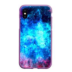 Чехол iPhone XS Max матовый Голубая вселенная цвета 3D-фиолетовый — фото 1