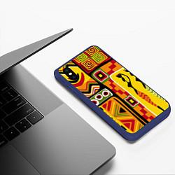 Чехол iPhone XS Max матовый Африка цвета 3D-тёмно-синий — фото 2