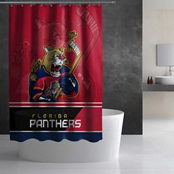 Шторка для душа Florida Panthers цвета 3D-принт — фото 2