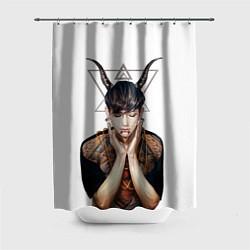 Шторка для душа EXO Demon цвета 3D-принт — фото 1
