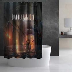 Шторка для душа Battlefield War цвета 3D-принт — фото 2