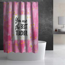 Шторка для душа Лучший учитель цвета 3D-принт — фото 2