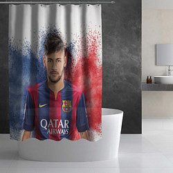 Шторка для душа Neymar FCB цвета 3D — фото 2