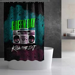 Шторка для душа Green Day: Kill the DJ цвета 3D — фото 2
