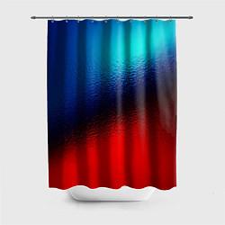 Шторка для ванной Синий и красный