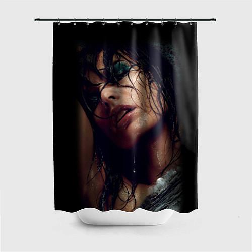Шторка для ванной Страстная девушка / 3D – фото 1