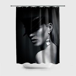 Шторка для ванной Девушка в шляпе