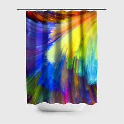 Шторка для душа Абстракция красок цвета 3D — фото 1
