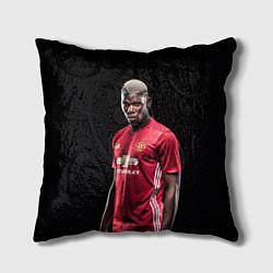 Подушка квадратная Погба: Манчестер Юнайтед цвета 3D-принт — фото 1