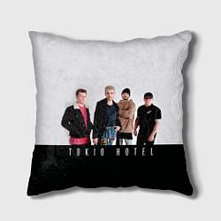 Подушка квадратная Tokio Hotel цвета 3D — фото 1