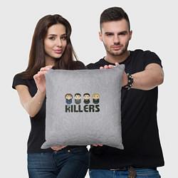Подушка квадратная The Killers Boys цвета 3D — фото 2