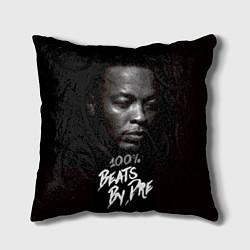 Подушка квадратная Dr. Dre: 100% Beats цвета 3D-принт — фото 1