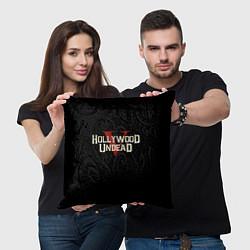 Подушка квадратная Hollywood Undead V цвета 3D-принт — фото 2