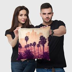 Подушка квадратная Los Angeles цвета 3D-принт — фото 2