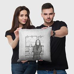 Подушка квадратная Унесенные призраками цвета 3D — фото 2